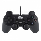 Dual Shock USB Vibrating Joypad Gamepad for PC – Black (120CM-Cable)