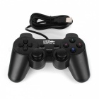 Dual Shock USB Vibrating Joypad Gamepad for PC - Black (120CM-Cable)
