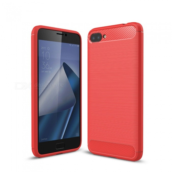 Naxtop Wire Drawing Carbon Fiber Textured TPU Brushed Finish Soft Phone Back Cover Case For Asus Zenfone 4 Max Plus ZC554KLTPU Cases<br>ColorRedModelN/AMaterialTPUQuantity1 pieceShade Of ColorRedCompatible ModelsAsus Zenfone 4 Max Plus ZC554KLPacking List1 x Case<br>