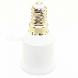 E14 Turn E27 Lamp Head Converter - White