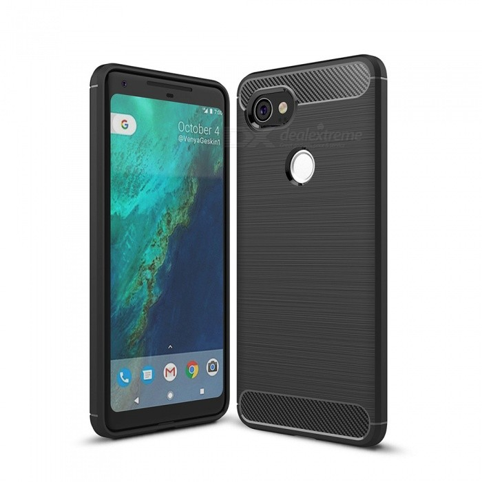 Naxtop Wire Drawing Carbon Fiber Textured TPU Brushed Finish Soft Phone Back Cover Case For Google Pixel 2 XLTPU Cases<br>ColorBlackModelN/AMaterialTPUQuantity1 pieceShade Of ColorBlackCompatible ModelsGoogle Pixel 2 XLPacking List1 x Case<br>