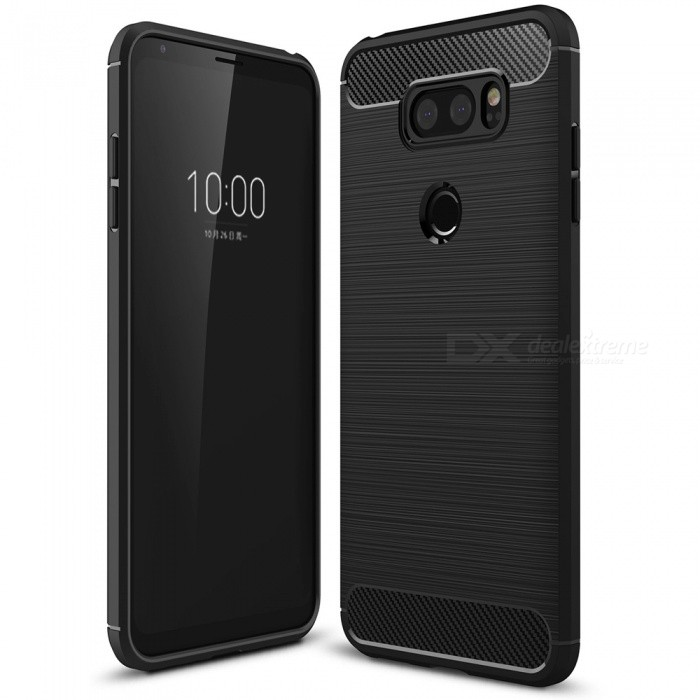Naxtop Wire Drawing Carbon Fiber Textured TPU Brushed Finish Soft Phone Back Cover Case For LG V30TPU Cases<br>ColorBlackModelN/AMaterialTPUQuantity1 pieceShade Of ColorBlackCompatible ModelsLG V30Packing List1 x Case<br>