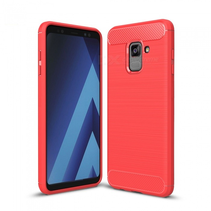 Naxtop Wire Drawing Carbon Fiber Textured TPU Brushed Finish Soft Phone Back Cover Case For Samsung Galaxy A8 (2018)TPU Cases<br>ColorRedModelN/AQuantity1 pieceShade Of ColorRedCompatible ModelsSamsung Galaxy A8 (2018)DesignSolid ColorStyleBack CasesPacking List1 x Case<br>