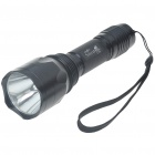 SuterFire C10 Cree Q5-WC 230-Lumen LED Flashlight with Strap - Black (1*18650)