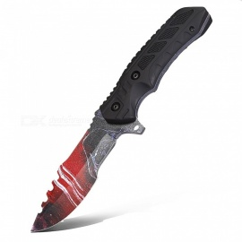 CTSmart L019 Multi-Purpose Outdoor Camping Survival Knife with A Small Toothed Knife Straight Knife - Red