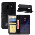 Protective pu leather case for samsung c10 - black