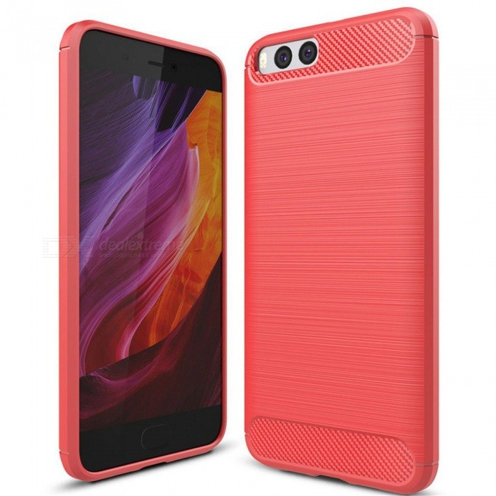 Naxtop Wire Drawing Carbon Fiber Textured TPU Brushed Finish Soft Phone Back Cover Case For Xiaomi Mi 6 - RedTPU Cases<br>ColorRedModelN/AMaterialTPUQuantity1 pieceShade Of ColorRedCompatible ModelsXiaomi Mi 6Packing List1 x Case<br>