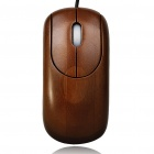 Unique Bamboo 800DPI USB Optical Mouse - Coffee (150cm-Cable)