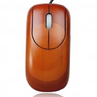 Unique Bamboo 800DPI USB Optical Mouse - Rosewood Color (150cm-Cable)