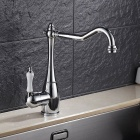 F-9070c contemporary brass chrome 360 degree rotatable single handle one-hole with ceramic valve, kitchen faucet