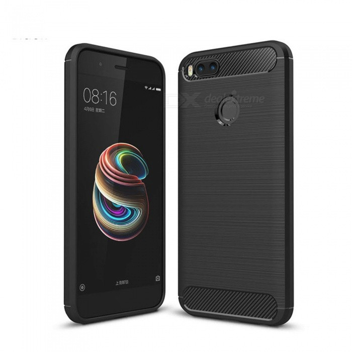 Naxtop Wire Drawing Carbon Fiber Textured TPU Brushed Finish Soft Phone Back Cover Case For Xiaomi Mi A1TPU Cases<br>ColorBlackModelN/AMaterialTPUQuantity1 pieceShade Of ColorBlackCompatible ModelsXiaomi Mi A1Packing List1 x Case<br>