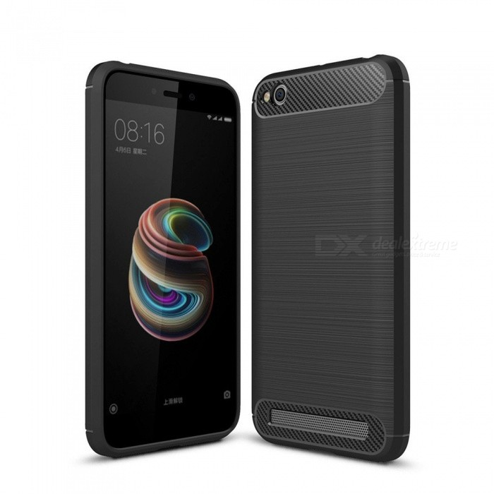 Naxtop Wire Drawing Carbon Fiber Textured TPU Brushed Finish Soft Phone Back Cover Case For Xiaomi Redmi 5ATPU Cases<br>ColorBlackModelN/AMaterialTPUQuantity1 pieceShade Of ColorBlackCompatible ModelsXiaomi Redmi 5APacking List1 x Case<br>