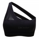 Mermaid curve 2018 new oblique one shoulder strap sports bra hollow out back lines strenuous exercise fitness bra tops for women s/black
