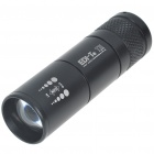 EDI-T T11 3-Mode 160-Lumen Convex Lens LED Flashlight w/ Cree Q3-WC - Black (1*123A/1*16340)