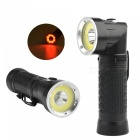 Aibber tone powerful 18650 t6 + cob 90 degree folding led flashlight torch light for hunting camping