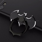 Universal 360 degree batman luxury metal phone finger ring holder stand for iphone x 8 plus 7 6, samsung s8 n8 black