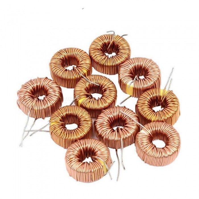 ZHAOYAO 10Pcs Toroid Core Inductor Wire Wind Wound 47uH 38mOhm 3 Amp, CoilDIY Parts &amp; Components<br>Size47UHQuantity1 setMaterialulu-polyolefin, metalEnglish Manual / SpecNoCertification-Packing List10 x Toroid inductors<br>