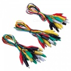 Zhaoyao 30pcs test leads with alligator clips set, insulated test cable double-ended clips, 19.7 inches