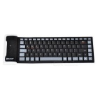 Flexible Silicone Bluetooth Foldable Keyboard - Black + White