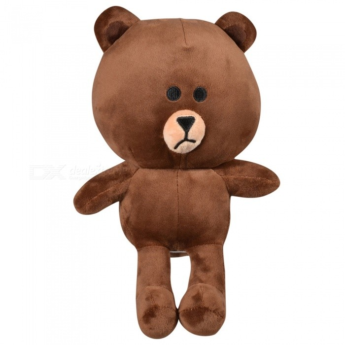 35cm/13.8inch Lovely Brown Soft Bear Plush Cushion Stuffed Dolls Toy for Baby