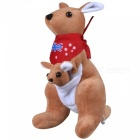 25cm/9.8inch Kangaroo Soft Plush Stuffed Doll Toy for Baby Kids