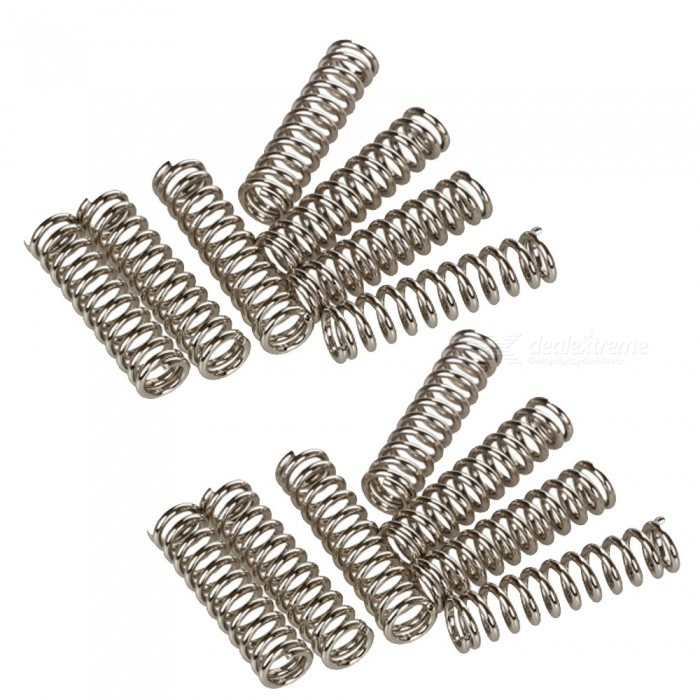 ZHAOYAO 20Pcs 3D Printer Parts, MK8 Extruder Powerful Spring, 1.2mm 5mm Length 20mm Feeder Spring3D Printer Parts<br>ColorSilverModelKINGROONQuantity1 setMaterialSpring steelPacking List20 x Springs<br>