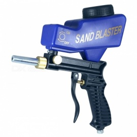 LEMATEC Gravity Feed Sandblasting Gun, Air Sandblast Sand Spray Gun, Rust Remove Sandblaster Air Tool Blue