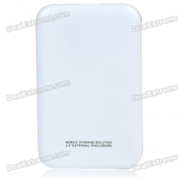 """Designer's 2.5"""" USB 2.0 HDD Enclosure with Carrying Pouch (White)"""