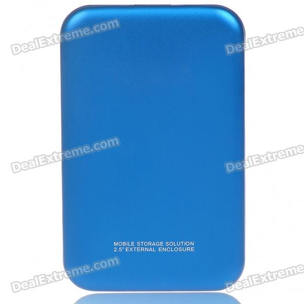 "Designer's 2.5"" USB 2.0 HDD Enclosure with Carrying Pouch (Blue)"