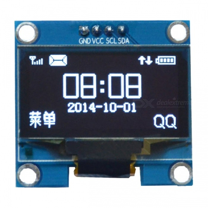 Produino 1.3 SSH1106 SPI I2C IIC 128X64 White OLED LCD LED Display Module Board 4 Pin for ArduinoLCD, LED Display Module<br>Color1ModelNOQuantity1 pieceMaterialFR-4Screen TypeOLEDScreen Size1.3 inchResolutionOthers,128*64Working Voltage   3-5 VEnglish Manual / SpecNoDownload Link   NOPacking List1 x Display module<br>