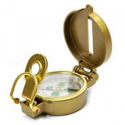 Outdoor Hiking Camping Compass with Hanging Buckle Design - Golden