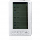"7.0"" TFT LCD E-Book Reader Music/Video Media Player w/ Voice Recorder/TF - White (4GB)"