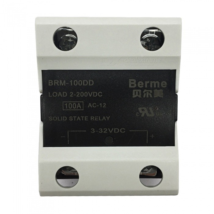 BEM-100DD 3-32V DC to 2-220V DC 100A Single Phase Solid State DC-DC RelayDIY Parts &amp; Components<br>Rated Current100AModelBEM-100DDQuantity1 pieceMaterialPlastic,MetalEnglish Manual / SpecNoCertificationISO9001Packing List1 x BEM-100DD  Solid State Relay.<br>