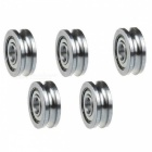 ZHAOYAO 5Pcs/ 3D Printer Parts, Extruder Accessories U-Groove Guide Wheel Pulley Bearings, 4 x 13 x 4mm
