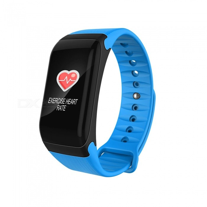 BLCR F601 Sports Smart Bracelet Waterproof Bluetooth Sport Fitness Tracker Smart Wristband Colorful Screen Watch - BlueSmart Bracelets<br>ColorBlueModelF601Quantity1 pieceMaterialSilicone + PCShade Of ColorBlueWater-proofIP67Bluetooth VersionBluetooth V4.0Touch Screen TypeYesCompatible OSIOS version 9.0 and above and supports Bluetooth 4.0 devices. Android 4.4 and above and supports Bluetooth 4.0 devicesBattery Capacity80 mAhBattery TypeLi-polymer batteryStandby Time7 daysPacking List1 x Smart Wristband1 x Charging Cable1 x User Manual<br>