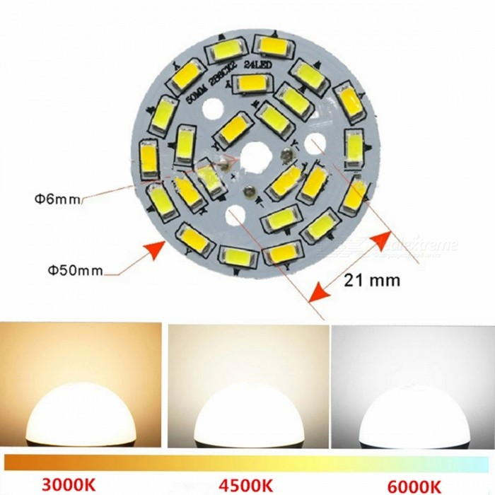 ZHISHUNJIA Warm White &amp; Cold White Light 5730 50mm 24-LED Light Bulb SourceE27<br>Emitter BIN6W Dual Color Light SourceModelG24LED-6+6WMaterialAluminium alloyForm  ColorGoldenQuantity1 setPower6WPower SupplyOthers,85-265 VConnector TypeE27Chip BrandOthers,SamsungChip Type5730Emitter TypeLEDTotal Emitters24Color BINOthers,Warm white light + Cold white lightTheoretical Lumens600 lumensActual Lumens500 lumensColor Temperature12000K,Others,3000K-6000KDimmableYesBeam Angle180 °PowerOthers,12WPacking List1 x Light source<br>