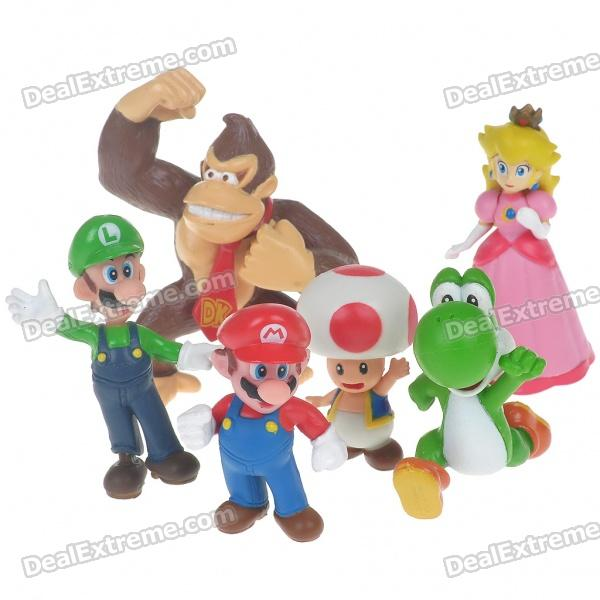 Cute Mario Figure Toy Set - Assorted (6-Pack)