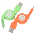 Retractable USB Charging Cables for Nokia N8/5800 and More (2-Pack/60CM-Cable)