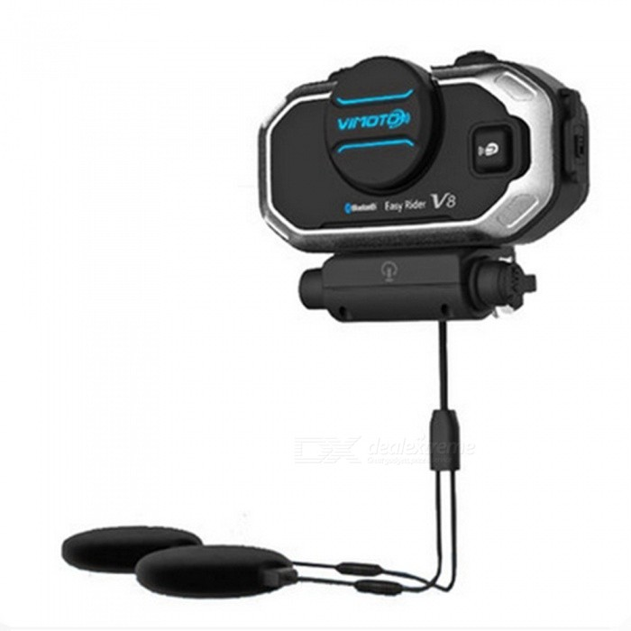 V8 Multi-functional Motorbike BT Bluetooth Headset Interphone, Motorcycle Helmet Intercom - US PlugMotorcycle Interphone<br>ColorBlack (US Plug)Quantity1 setMaterialABSBluetooth VersionBluetooth V3.0Transmit Distance10 mIntercom FunctionYesTalk Time6-10 hoursStandby Time10 hoursWaterproof FunctionYesPacking List1 x V8 Bluetooth Headset1 x Mini-USB charging cable 1 x Detachable earpieces1 x Low-profile Microphone1 x Mounting 1 x User Manual<br>