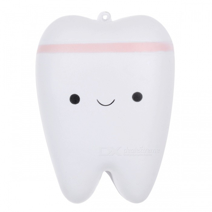 JEDX Creative Novelty Tooth Style Stress Reliever Squeeze Toy Pendant with Key Ring - Pink + WhiteStress Relievers<br>ColorWhite + pinkMaterialPUQuantity1 pieceShape StyleToothSuitable Age 3-4 years,5-7 years,8-11 years,12-15 years,Grown upsPacking List1 x Toy<br>