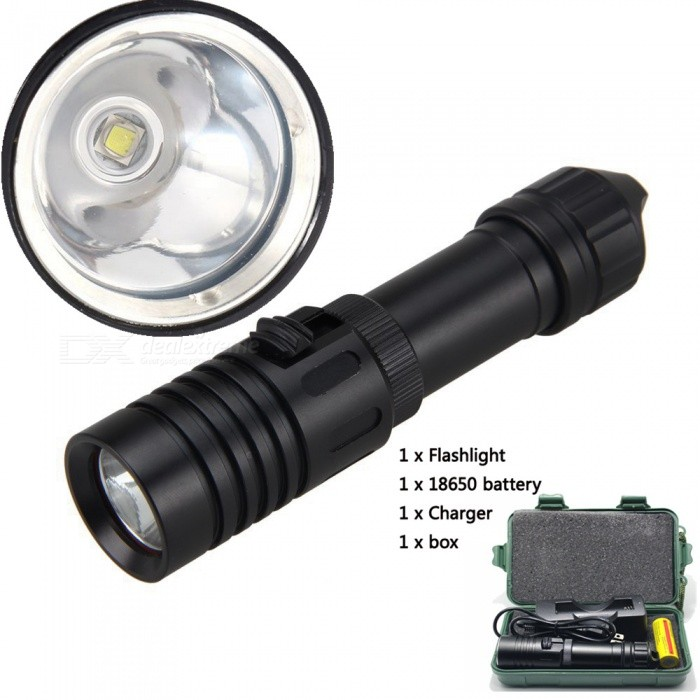 AIBBER TONEDV32 Diving Flashlight 18650/26650 LED Underwater Flashlight XM-L2 Waterproof Dive Light Lamp Portable TorchDiving Flashlights<br>BundlesWith 18650 battery chargerQuantity1 setMaterialAluminum AlloyEmitter BrandCreeLED TypeXM-L2Emitter BINU2Color BINWhiteNumber of Emitters1Actual Lumens1000 lumensPower Supply1 x18650or1x26650Working Voltage   3.7-4.2V VCurrent- ARuntime- hourNumber of Modes1Switch TypeOthers,Promise dimmingSwitch LocationSideLens MaterialCoated glassReflectorAluminum SmoothWorking Depth Underwater100 mStrap/ClipStrap includedPacking List1 x Flashlight1 x 18650 battery1 x Charger1 x Plastic box<br>