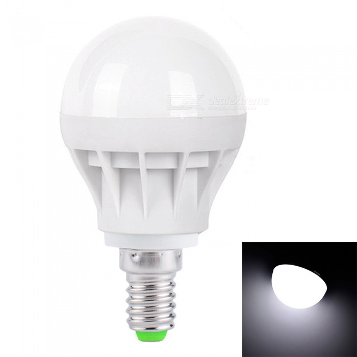 YouOKLight E14 3W Cold White LED Light Bulbs for Home Lighting  (AC 220V)E14<br>Emitting ColorCold WhiteModelYK0067-E14-WMaterialPlasticForm  ColorWhiteQuantity1 piecePower3WRated VoltageAC 220 VConnector TypeE14Emitter TypeOthers,5730 SMD LEDTotal Emitters6Theoretical Lumens300 lumensActual Lumens200 lumensColor Temperature6000KDimmableNoBeam Angle180 °Packing List1 x E14 LED Bulb<br>