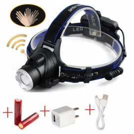 AIBBER TONE IR Sensor LED Headlamp Induction Head Light USB Rechargeable Headlight Lantern Flashlight