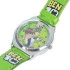 Stylish Cartoon Style PU Leather + Stainless Steel Quartz Wrist Watch - Ben 10 (1*LR241) 