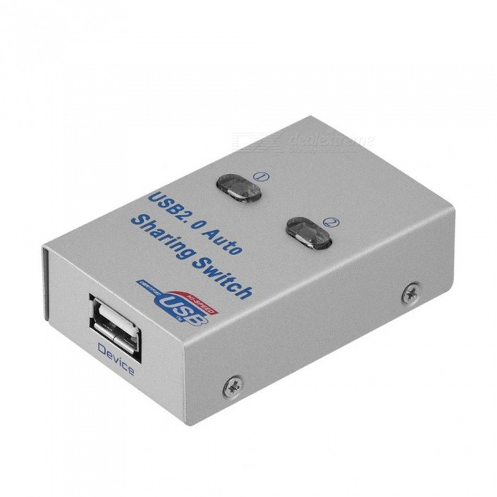 Cwxuan 2-Port USB 2.0 Sharing Switch Hub for 2 PC to 1 Printer/Scanner, Network Sharing Switcher Box - SilverLaptop/Tablet Cable&amp;Adapters<br>Color2-Port - (Silver)Quantity1 DX.PCM.Model.AttributeModel.UnitShade Of ColorSilverMaterialAluminumInterfaceUSB 2.0Transmission Rate480 DX.PCM.Model.AttributeModel.UnitPacking List1 x Sharer1 x CD1 x Chinese / English user manual<br>