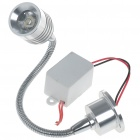 1W 90lm LED 6500K Cool White Flexible Neck Spot Lamp (85~265V)
