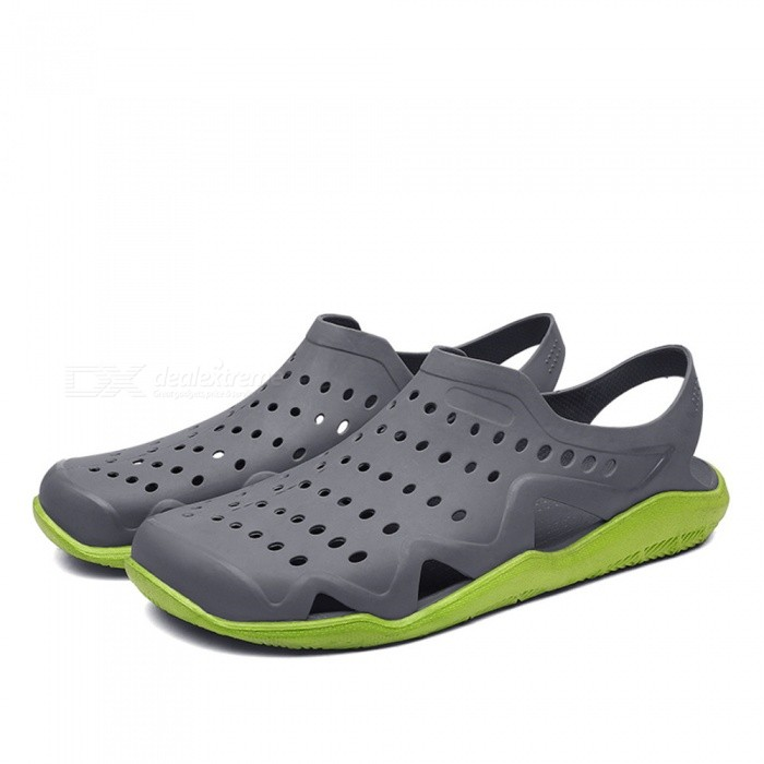 CTSmart 1512 Summer Outdoor Breathable Beach Shoes - Grey (44)ColorGraySize44Model1512Quantity1 setMaterialPVCGenderMenPacking List1 x Pairs of Shoes<br>