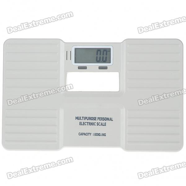 "Compact Portable 2.0"" LCD Digital Personal Body Weight Scale (2*AAA/0.3~150KG)"
