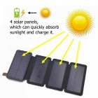 ZHAOYAO 12000mAh DC 5V Dual USB Solar Power Bank Charger with 2835SMD-9LEDs White Light - Black