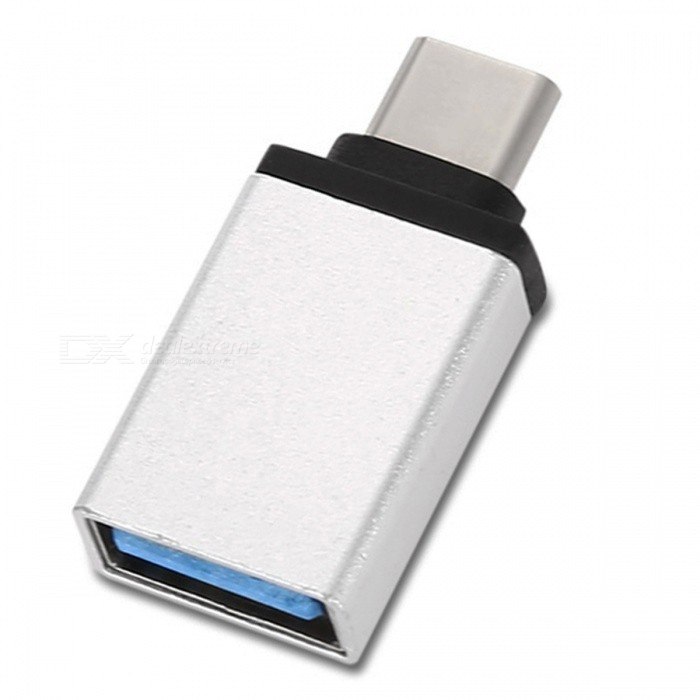Kitbon Super Speed USB 3.0 Type-C M to USB 3.0 USB-A F OTG AdapterLaptop/Tablet Cable&amp;Adapters<br>ColorSliverQuantity1 DX.PCM.Model.AttributeModel.UnitShade Of ColorSilverMaterialAluminum alloyInterfaceUSB 3.0,Others,USB-C USB Type CCompatible BrandAPPLE,Dell,HP,Toshiba,Acer,Lenovo,Samsung,MSI,Sony,IBM,Asus,Thinkpad,HuaweiTransmission Rate10 DX.PCM.Model.AttributeModel.UnitPacking List1 x Type C Adapter<br>